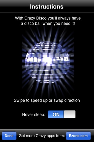 rapidshare Crazy Disco 1.0.1 (.ipa) pour Iphone, Ipod