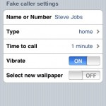 Fake Calls: Do I really want to go into Settings to set up my fake call? Not so much