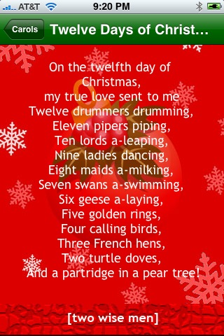 """This will come in handy when the inevitable """"12 Days of Christmas"""" trivia question gets asked"""