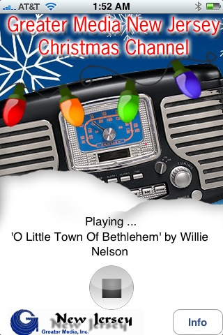 Willie Nelson sings Christmas! Proof positive that this app delivers variety