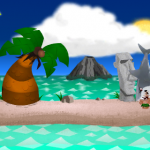 Shark hats are all the rage on the island. Drop the shark on an islander to make him more fashionable.