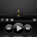 Music control buttons are handy as well. All buttons can be customized on the server application.