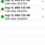 easy to browse your running history