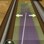 Aim your ball by dragging two different points on the lane before you throw